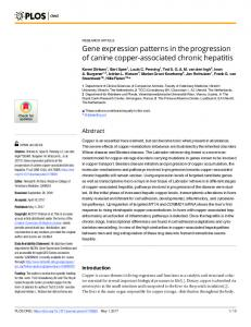 Gene expression patterns in the progression of canine copper ... - PLOS