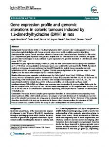Gene expression profile and genomic alterations in colonic tumours ...
