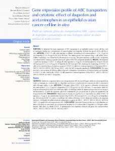 Gene expression profile of ABC transporters and cytotoxic ... - SciELO
