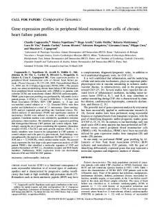 Gene expression profiles in peripheral blood ... - CiteSeerX