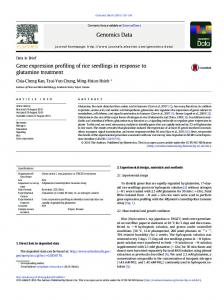 Gene expression profiling of rice seedlings in ... - Semantic Scholar