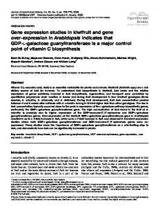 Gene expression studies in kiwifruit and gene over-expression in ...