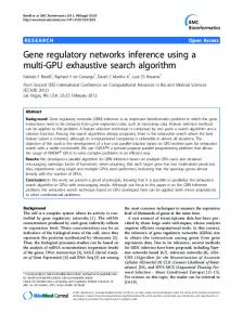 Gene regulatory networks inference using a multi-GPU ... - ScienceOpen