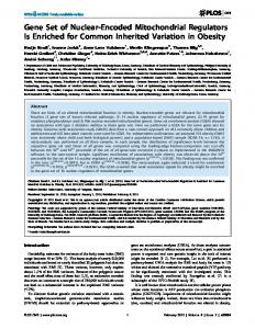 Gene Set of Nuclear-Encoded Mitochondrial ... - Open Access LMU