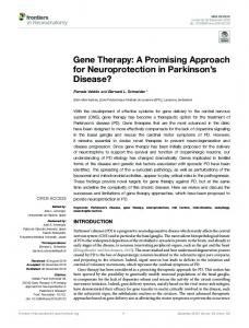 Gene Therapy: A Promising Approach for ... - Semantic Scholar