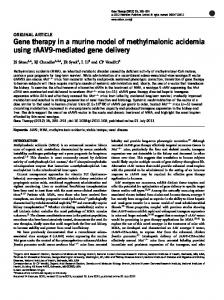 Gene therapy in a murine model of methylmalonic acidemia ... - Nature