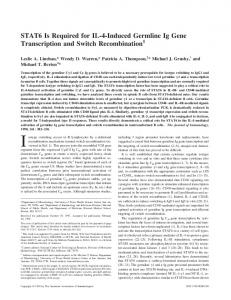 Gene Transcription and Switch Recombination STAT6 Is Required for ...
