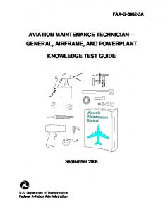 General, Airframe, and Powerplant: Knowledge Test Guide