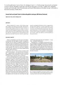 General And Local Spatial Trends In Galician