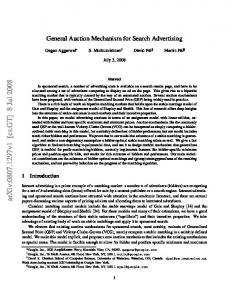 General Auction Mechanism for Search Advertising