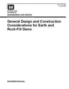 General Design and Construction Considerations for Earth and ...