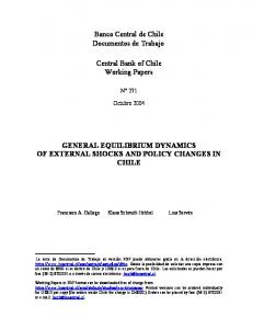 general equilibrium dynamics of external shocks and policy ... - Dialnet
