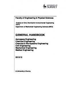 GENERAL HANDBOOK - University of Surrey