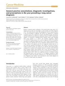 General practice consultations, diagnostic ... - Wiley Online Library