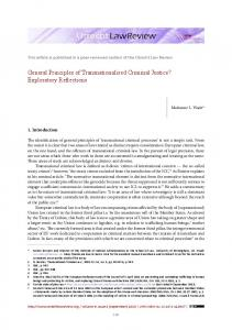 General Principles of Transnationalised ... - Utrecht Law Review