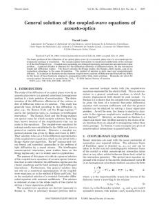 General solution of the coupled-wave equations of acousto-optics