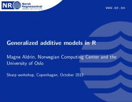 Generalized additive models in R