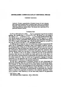 GENERALIZED COHEN-MACAULAY MONOMIAL IDEALS ...