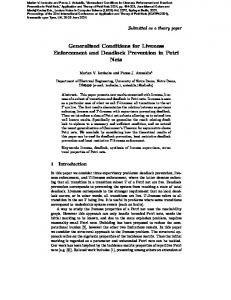 Generalized Conditions for Liveness Enforcement ... - Semantic Scholar