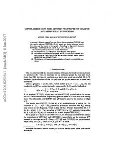 Generalized cut and metric polytopes of graphs and simplicial ...