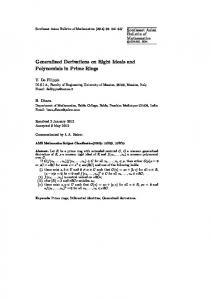 Generalized Derivations on Right Ideals and