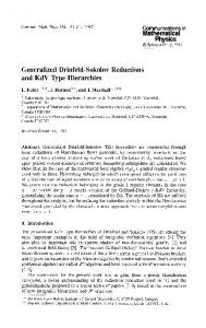 Generalized Drinfeld-Sokolov Reductions and KdV ... - Project Euclid