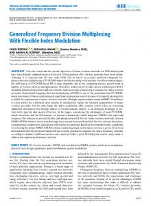 Generalized Frequency Division Multiplexing With ... - IEEE Xplore