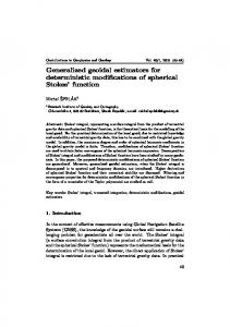Generalized geoidal estimators for deterministic modifications of ... - SAV