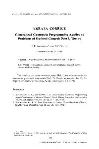 Generalized geometric programming applied to ... - Springer Link