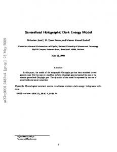 Generalized Holographic Dark Energy Model