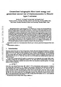 Generalized holographic Ricci dark energy and generalized second ...