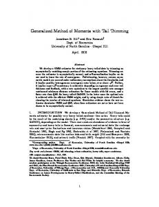 Generalized Method of Moments with Tail Trimming