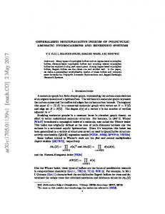 Generalized Multiplicative Indices of Polycyclic Aromatic ...