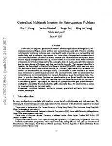 Generalized Multiscale Inversion for Heterogeneous Problems