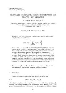Generalized multivariate Hermite distributions and related point ...