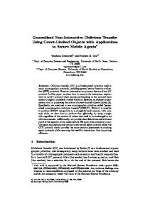 Generalized Non-Interactive Oblivious Transfer Using ... - CiteSeerX