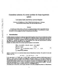 Generalized solution of a mixed problem for linear hyperbolic system