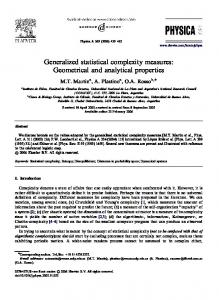 Generalized statistical complexity measures ...