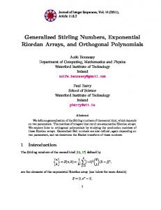 Generalized Stirling Numbers, Exponential Riordan Arrays, and