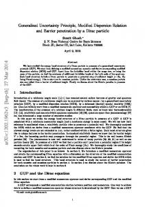 Generalized Uncertainty Principle, Modified Dispersion Relation and