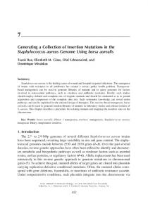 Generating a Collection of Insertion Mutations in the ... - Springer Link