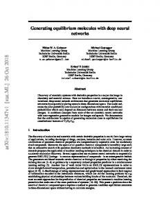 Generating equilibrium molecules with deep neural networks