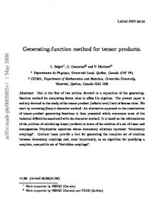 Generating-function method for tensor products
