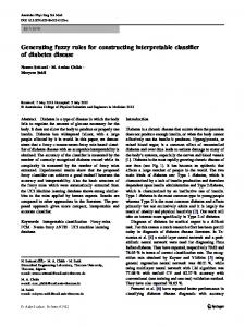 Generating fuzzy rules for constructing interpretable ... - Springer Link