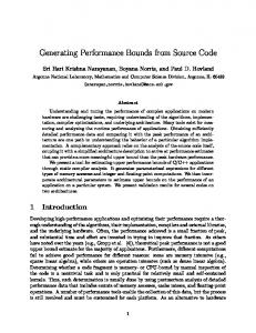 Generating Performance Bounds from Source Code
