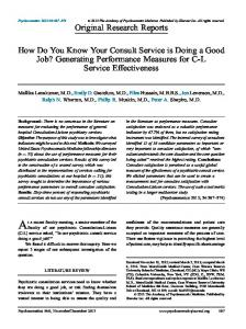 Generating Performance Measures for CL Service Effectiveness