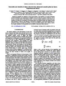 Generation and detection of plane coherent shear picosecond