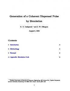 Generation of a Coherent Dispersed Pulse by Simulation - Faculty
