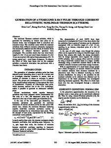 Generation of Attosecond X-Ray Pulse through Coherent Relativistic