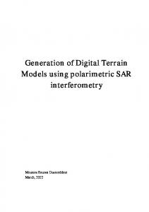 Generation of Digital Terrain Models using polarimetric SAR ...
